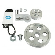 EMPI 17-2811 Polished Aluminum Serpentine Pulley System with Belt - VW Dune Buggy Bug Ghia Thing Trike Bus Super Beetle Baja Sand Rail T1 T2 T3 Upright 1500/1600cc Engine Component