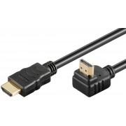 Cablu Goobay v1.4 HDMI Male la HDMI Male cotit in 90 grade 5m negru