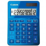 Canon Ls-123k Calcolatrice Display 12 Cifre Finitura Metallica Colore Blu
