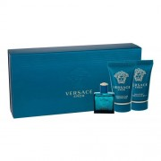 Versace Eros set cadou Apa de toaleta 5 ml + Gel de dus 25 ml + Balsam dupa ras 25 ml pentru bărbați