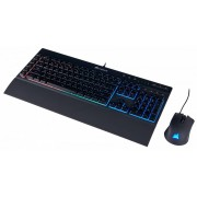 Corsair Kit Gamer de Teclado y Mouse incluye K55 + HARPOON RGB, Alámbrico, USB, Negro (Español)