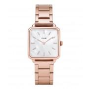 CLUSE Horloges La Tetragone Three Link Rose Gold Wit