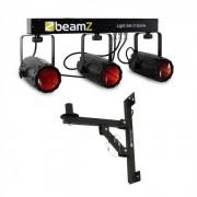 Beamz 3 Some Juego de focos LED 5 pz. Soporte de pared (PL-4468-22831)