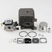 Cylinder Piston Kits with Carburetor Carb Fit STIHL FS55 FS45 BR45 KM55 HL45 HS45 KM55 HL45 HS45 HS55 TRIMMER 34mm