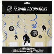 amscan Sports and Tailgating Party Ice Time Swirl Decorations Value Pack, Paper, Pack of 12 Childrens (72 Piece), Others, NHL