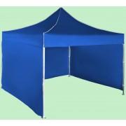Gyorsan összecsukható sátor 3x3 m - alumínium, Kék, 3 oldalfal