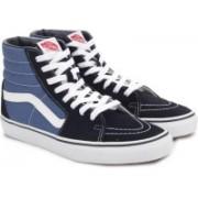Vans SK8-HI High Ankle Sneakers For Men(Blue)