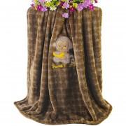 Cobija Franela Dibujos Animados Para Bebé Blanket-Marrón