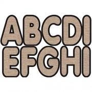 Ashley Productions Designer Magnetic Uppercase Letters (57 Piece), Burlap