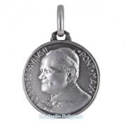 medaglia religiosa in argento papa giovanni paolo ii 21 mm