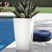 Lechuza Cubico 30 självbevattningskruka (Produkt: Charcoal metallic, Välj: Inomhus)