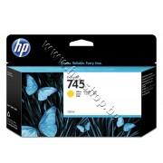 Мастило HP 745, Yellow (130 ml), p/n F9J96A - Оригинален HP консуматив - касета с мастило