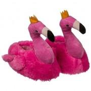 Merkloos Warme flamingo pantoffels voor dames 41/42 - Sloffen - volwassenen