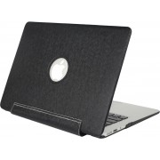Mobigear Hard Case Silk Texture United Zwart voor Apple MacBook Air 13 inch