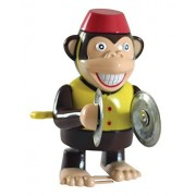 """Wind up Cymbal Monkey Toy - Windup Monkey Marching and Playing Cymbals - Toys for Toddlers Kids Children Boys Girls - Classic Wind-up Surprising Happy Clapping Monkey 4"""" Tall Walks Plays Cymbals"""