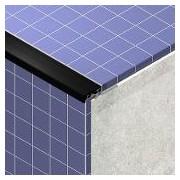 PTIL485 - Protectie treapta din aluminiu eloxat cu insertie, 2,5 m
