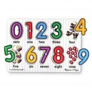 Melissa Doug jucarii educative tip See Inside Numbers Peg Puzzle lemn Cifrele