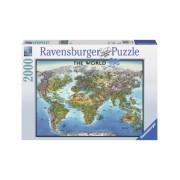 Puzzle Harta Lumii, 2000 Piese Ravensburger