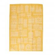 Dille&Kamille Torchon, coton, jaune/blanc, façades