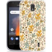 Nokia 1 Hoesje Doodle Flower Pattern