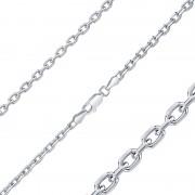 Silvego Stříbrný řetízek ANKR 3 mm - rhodiovaný - TTTAD095