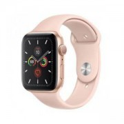 Смарт часовник Apple Watch Series 5 GPS (44mm), Gold Aluminium Case with Pink Sand Sport Band, MWVE2BS/A