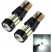2 Pcs 5W 400LM T10 7020 Auto Lampara Luz Luces De Estacionamiento Con Ancho De Limpieza De Lente Y 10 Luces LED (luz Blanca)