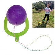 Baradu 1 Pcs Skip Ball for Kids Adult Toy Swing Jumping Ball With Rope, Purple