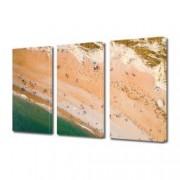Tablou Canvas Premium Peisaj Multicolor Oameni pe plaja Decoratiuni Moderne pentru Casa 3 x 70 x 100 cm