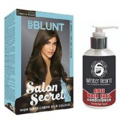 MISTER BEARD ANTI HAIR FALL CONDITIONER WITH BBLUNT NATURAL BROWN (4.31) HAIR COLOUR