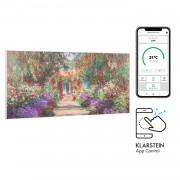 Klarstein Wonderwall Air Art Smart, инфрачервен нагревател, 120 х 60 см, 700 W, приложение, градински път (HTR10-WdwlS700wGardn)