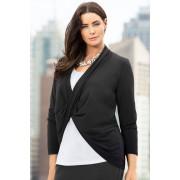 Womens Sara Twist Knit Cardi - Black