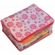 Tagve Pack of 3 Storage Organiser Pink Floral Design Underbed Storage Bag, Blanket Cover, Saree Cover (Regular Size) PP-3(Pink)