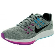Nike Women's Air Zoom Structure 19 Cool Grey, Black and Fuchsia Flash Running Shoes - 4 UK/India (36.5 EU)(4.5 US)