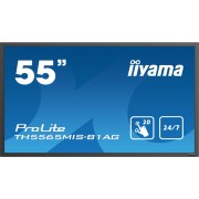 iiyama 55' 20-Points Touch Screen, 1920x1080, IPS panel, Full Metal Housing, Fan-less, Speakers, Multiple In-/Outputs (VGA, HDMI (3x), AV and more), Infra-Red Touch, USB Touch Interface, 450 (400)cd/m