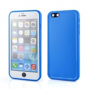 Apple iPhone 8 Plus Rubber Full Body Protection Silicone Gel Case - Blue