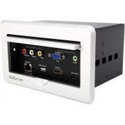 Caja de Conectividad para Mesa de Juntas - Módulo de Conexiones HDMI VGA y Mini DisplayPort, Startech BOX4HDECP