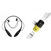 HBS 730 bluetooth headset and Rubber spliter|K28 Neckband bluetooth headset | Stereo Music Earphone Bluetooth Headset with Mic