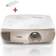 Видео проектор BenQ W2000, DLP, 1080p, 10000:1, 2000 ANSI Lumens,VGA,HDMI,MHL,USB,Speakers+Benq QCAST Mirror Projector QP20, 9H.Y1J77.17E_5A.JH328.10E