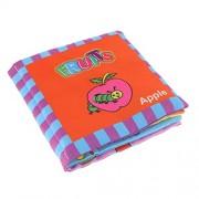 Homyl Developmental Baby Toys Kids Fabric Books Cloth Book for Early Education - Fruits, 14x16cm