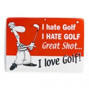 San Diego Gifts I hate golf I love golf Plastic Signs【ゴルフ その他のアクセサリー>ホーム/オフィス】