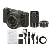 Sony Cámara Mirrorless SONY A5100+16-50+55-210 (24.3 MP - Sensor: APS-H - ISO: 100 a 25600)