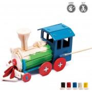 3D Puzzle De Pintura Forma De La Locomotora