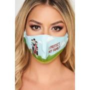 Masca de protectie StarShinerS turcoaz din material textil