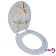 vidaXL Toaletno Sjedalo od MDF-a Spektakularni Ukras Morske Zvijezde