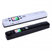 iScan02 WiFi Double Portable Mobile Document Scanner portatif avec écran LED, support 1050DPI / 600DPI / 300DPI / PDF / JPG / TF (blanc)