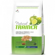 Trainer Natural Trainer Adult Maxi con Pollo Fresco, Riso e Aloe Vera 12kg