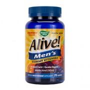 ALIVE! MEN'S GUMMY VITAMINS 75 Adult Gummy Vitamins
