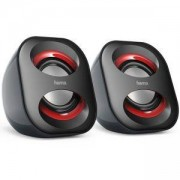 Тонколони Sonic Mobil 183, USB 3.0 захранване, 3W, Черно и червено, HAMA-173131