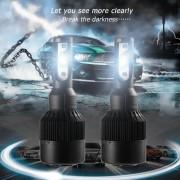 ER H4 LED Bombilla De Luz De La Bombilla 110W 12000LM 6000K Super Brillante Alta Potencia Negro-Negro